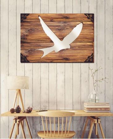 Bird - Dekoratif Masif Ahşap Ayna