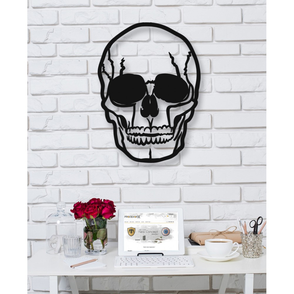 Skull Metal Tablo